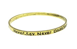 Bransoletki bangle never say never